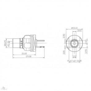 ETI Eichmann PhonoPods Kupfer, ETI FRTC072, Cinch/RCA-Buchse, Paarpreis