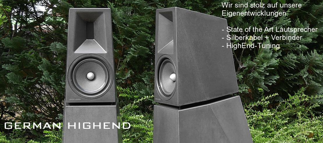 German Highend - Lautsprecher - Silberkabel